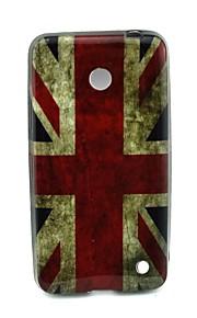 Para Funda Nokia Diseños Funda Cubierta Trasera Funda Bandera Suave TPU Nokia Nokia Lumia 630
