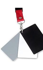 3-em-1 Digital cinzentas brancas cartão de equilíbrio de cinza preto cartões set prem