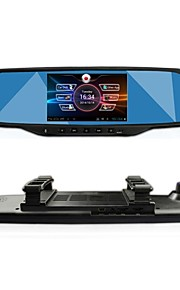 """GT VIEW 5.0""""Touch Android GPS Navigation Bluetooth WiFi 1080P Dual lens Rearview Mirror Dash Car DVR"""
