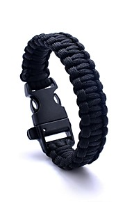Lureme® Paracord Survival Escape To Whistle Cord Bracelet