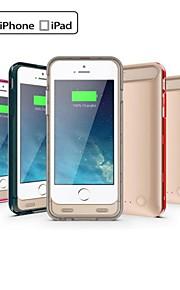 Ifans ® mfi 3100mah lyn-kontakt makt bank backup tilfellet med stativ for iPhone 6 (5V 500mA, diverse farger)