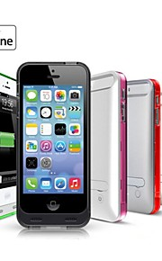 Connettore fulmine ® mfi 2400mAh caso di backup banca di potere con il basamento per il iphone 5 5s (5v 500ma, colori assortiti) iFans