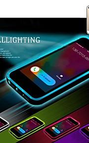 lncoming oproep leidde knipperen transparante TPU Cover Case voor iPhone 6 plus (assorti kleur)