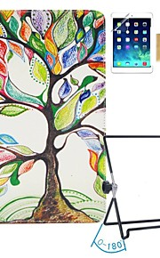 EHAPPY®Tree Pattern PU Leather Flip Stand Case with Screen Protector and Stylus and Stand Holder for Apple iPad 1/2/3/4