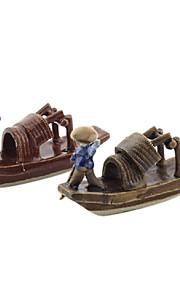 Guyun Ceramic Mini House Boat Decoration for Aquarium