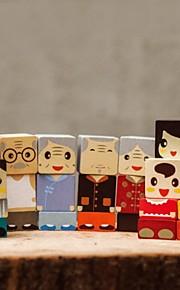 benho byggesten gummi træ familie trælegetøj