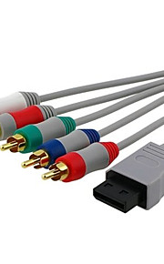 1.8M 5.904FT Wii 30Pin Male to 5RCA Male Video Audio TV Display Connection Cable for Wii Support 480P