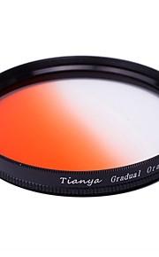 Tianya 58 milímetros circular filtro graduado laranja para canon 650D 700d 600d 550d 500d 60d lente 18-55mm