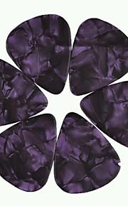 médio guitarra 0,71 milímetros pega palhetas pérola celulóide roxo 100pcs-pack