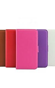 용 노키아 케이스 지갑 / 카드 홀더 / 스탠드 케이스 풀 바디 케이스 단색 하드 인조 가죽 Nokia Nokia Lumia 630
