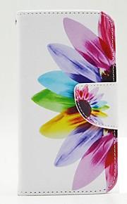 용 노키아 케이스 지갑 / 카드 홀더 / 스탠드 케이스 풀 바디 케이스 꽃장식 하드 인조 가죽 Nokia Nokia Lumia 630