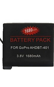 GOPRO - AHDBT-401 - Li-ion - Batterij - voor GOPRO Hero4 - 3.8 - ( V ) - 1680 - ( mAh )