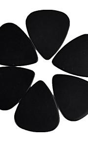médio guitarra 0,71 milímetros pega palhetas 100pcs-pack preto sólido celulóide