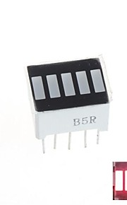 5 Segment Digital Red LED Bar Display