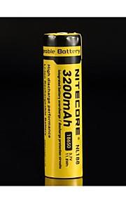 bateria recarregável 18650 3100mah 3.7v li-ion NiteCore nl188