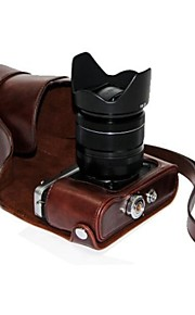 dengpin pu óleo da pele de couro tampa da câmera destacável saco caso para FUJIFILM x e2-x-e1 (cores sortidas)