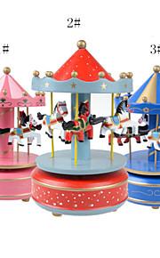 chapeamento de caixa musical caixa de música de madeira de cor para o presente gteative