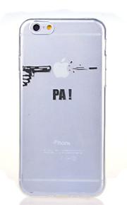 skyting slitasje apple mønster TPU myk deksel til iPhone 6 / 6s