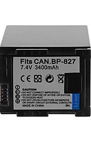 3400mAh camera batterij pack voor Canon BP-827 +