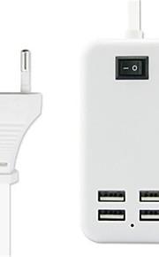 15w3a eu stekker 4-poort reizen usb lader adapter met een 1,5 meter lange kabel universele Carregador celular