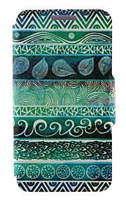 kinston® totems verts motif cuir PU couverture complète du corps avec support pour HTC Desire yeux / M910