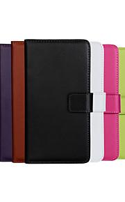 노키아 루미아 930 (모듬 색상)에 대한 스탠드 단색 정품 PU 가죽 플립 커버 지갑 카드 슬롯 케이스