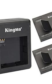 Kingma 2 × 1010mah az13-1 batterier + dual slot batteri lader sæt til Xiaomi Xiaoyi - sort