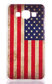 modello della bandiera americana verniciato opaco pc trasparente cassa del telefono materiale per la galassia a3