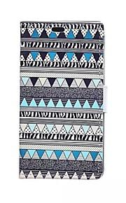 maruca azul tarjeta de patrones de forma billetera de cuero de la PU caso de cuerpo completo para el deseo htc 826