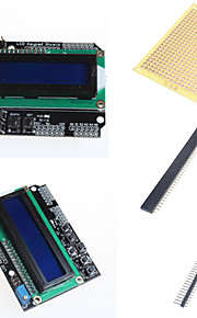 1602 LCD Keypad Shield and Accessories for Arduino