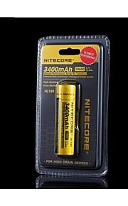 nitecore nl189 18650 3400mah li-ion genopladeligt batteri