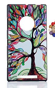 노키아 루미아 830에 대한 먼지 플러그 다채로운 나무 패턴 PC 하드 다시 커버 케이스