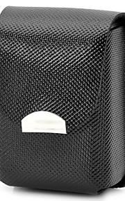 bærbare mini snap knap tilfældet for folde briller - sort