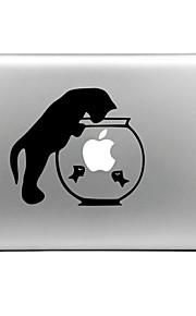 hat-prince katt og fisk tank designet utskiftbare dekorfolie som klistres for MacBook Air / pro / pro med retina-skjerm
