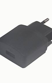 5v 1a 1USB eu strømadapter, sort