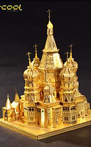 Vasily catedral de quebra-cabeça do metal 3d estéreo modelo de construção diy quebra-cabeça de brinquedo adulto