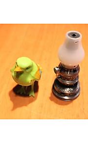 kreativ vintage petroleumslampe tænder et stearinlys lightere
