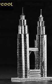 a torre gémea 3d crianças de montagem de quebra-cabeça modelo de brinquedo adulto quebra-cabeça construção de metal sólido