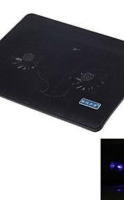 shunzhan sz280 führte blaues Buch superleisen Dual Fangemeinde USB-Laptop-Kühlvorrichtung