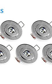 5 stk. MORSEN 3 W 1 Høyeffekts-LED 200-300 LM Varm hvit Innfelt retropassform Dimbar Innfelt lampe / Taklys / Panellys AC 220-240 V