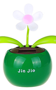 B1 Plastic Apple Planted Flower Solar Powered Decoration (Random Delivery)