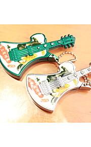kreativ med guitar med perler metal lightere grøn sølv