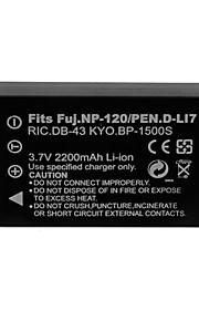 2200mAh camera batterij voor Fuji NP-120 / dli7 / db43 / bp1500s