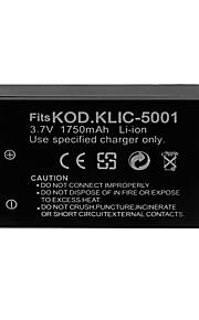 1750mAh camera batterij voor Kodak KLIC-5001 / Sanyo db-L50