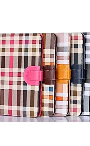 Irregular Grid Pattern PU Leather Full Body Case with Card Holder For Ipad mini (Assorted Colors)
