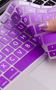 """jrc grande Colore lettera pellicola copertura della tastiera in silicone cambiamento graduale per macbook 12 retina """""""