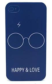 felicità e l'amore modello pc acidato trasparente della copertura posteriore per iPhone 4 / 4S