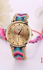 nova moda relógio de quartzo tecido cadeia pulseira de relógio de ouro das mulheres do estilo mulheres nação relógios de pulso Ladies