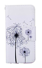 Dandelion Pattern PU Leather Phone Case For iPhone 5/5S