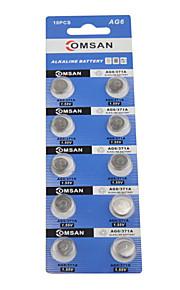 comsan AG6 LR920 371A 171 SR920SW hoge capaciteit knop batterijen (10st)